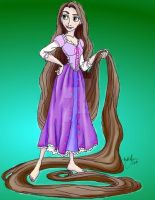 Rapunzel: The Brunette Years by Little-Orca