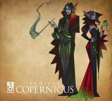 A Snooty Pair of Dark Elves by UlaFish