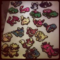 pokemon perler beds by staubtaenzerin