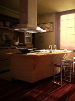 3D modern kitchen model ~ Maya2013 by MakotoKacun