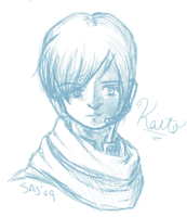 Serious Kaito is serious by LadyOfSodas