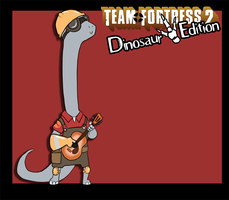 Random Art - TF2 Dinosaur Edition - Engineer by LeeLeeMoreau