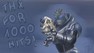 Garrus Thx for 1000+pageviews by clavica