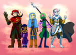 Race for Paradise: Cast-Full Color by CoolFireBird