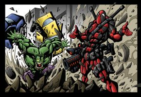 Deadpool vs Hulk by VASS-comics
