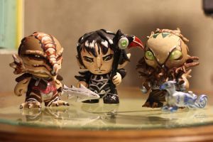 Dungeons and Dragons Minis by everythingerika