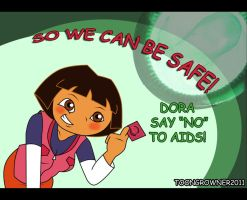 Dora NO AIDS by toongrowner