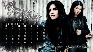 Cristina Scabbia Calendar : May 2012. by MyAlternativeDesign