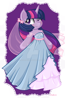 Twilight sparkle Wedding dress by mea0113