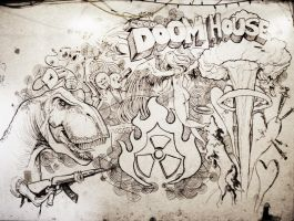 Doom House mural by DragonSpark
