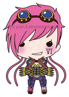 VI, the chibi Piltover Reinforcer by yue-3
