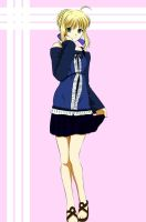 Saber blue dress with BG by Maetelsama