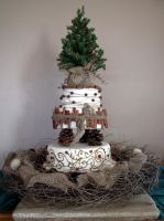 Rough and earthy winter cake by kreativekortney