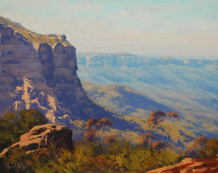 Landslide Cliff Katoomba by artsaus