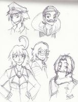 P13 - Just some doodles by Purplestuffles