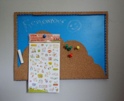 Chalk and Pin Board Craft by Idle-Emma