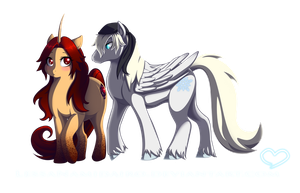 MLP: Anhy and Snow by LessaNamidairo
