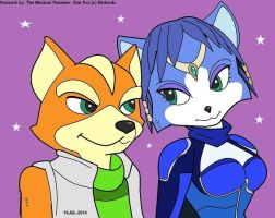 Fox McCloud and Krystal by TheMexicanPunisher