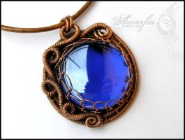 Cobalt blue medallion by amorfia