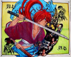 Gentle Warrior -Kenshin Himura by kaliko-rosa