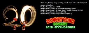 Donkey Kong Country 20th Anniversary Poster #1 by TheWolfBunny