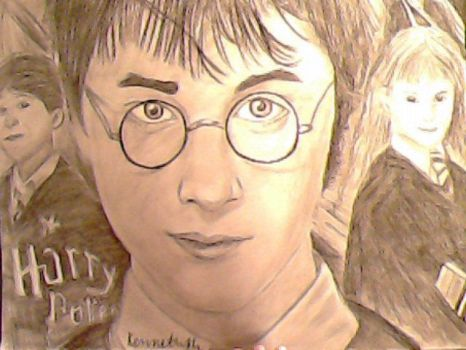 Harry Potter Realistic Drawing by kennethkangaroo