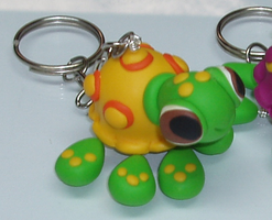 Keychain of a Yellow Turtle in Polymer Clay by PedroSilvaCompany