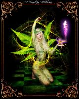 Psychedelic Tinkerbell by WanderingBohemian