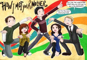 HIMYM - 5 Awesome Friends by Chocoreaper