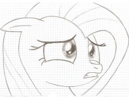 Fluttershy Looks To The Right by oooopoooo