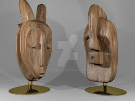 African Masks-3D Modeling by falsedelic