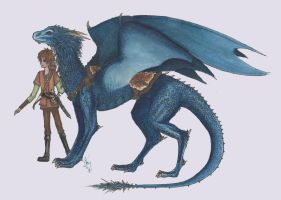saphira and eragon by ShadyHathor