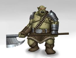Orc Warrior by MisterSnowLeopard