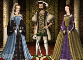 King Francis I and His Queens by MoonMaiden37
