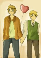 APH USUK: Heart balloon by TheShakunai