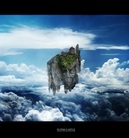 Flying castle by Mis-kin