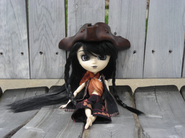 1.6 scale leather tricorn hat by anthropochick