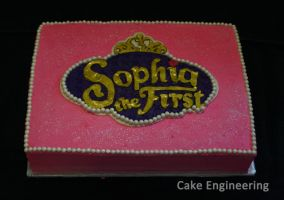 Sofia the First Cake by cake-engineering