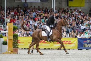 3DE Show Jumping After Landing Phase Stock 61 by LuDa-Stock