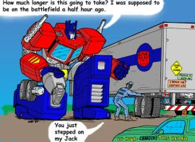 Optimus Prime's Bad Day by Charger426