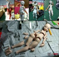 DOLLPAMM BJD body sculpting process 02 by DollPamm