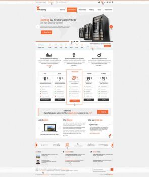 Xhosting Responsive HTML5 CSS3 Template by brillianthemes
