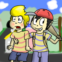 Ness and Lucas by PoisonLuigi