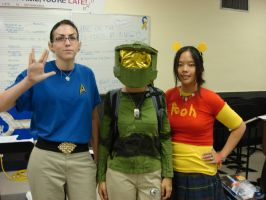 Master Chief at skool wit pals by Gubreez
