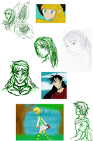Sketchdump/ Redraws I guess by Akyia
