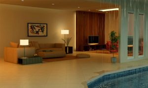 pool in the house by grafix3d