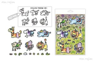 Pattern - Color Animals by SaltyMoose