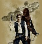 Han Solo and Chewbacca by GRDavid