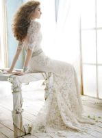 Lace Over A-line Romantic Sweetheart Wedding Dress by foxgowns
