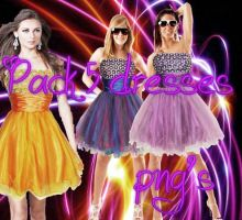 Pack 5 Dresses png by polybieber